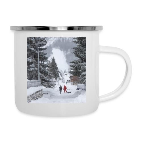 Mug le village en hiver - Tasse émaillée