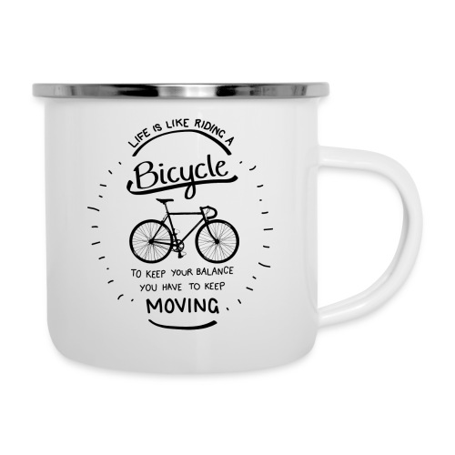 Life is like riding a bike - Camper Mug