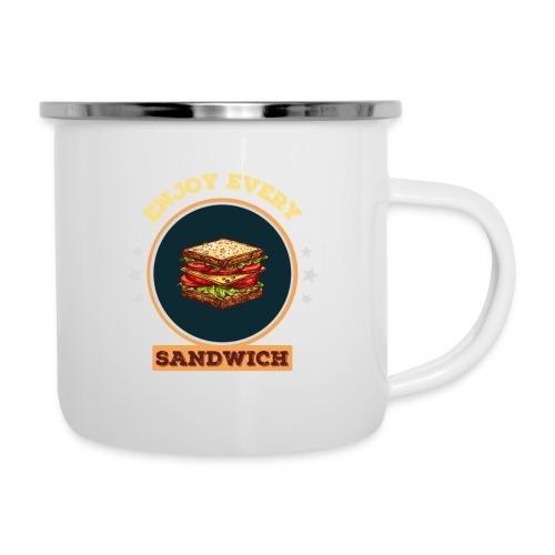 Enjoy every sandwich - Emaille-Tasse