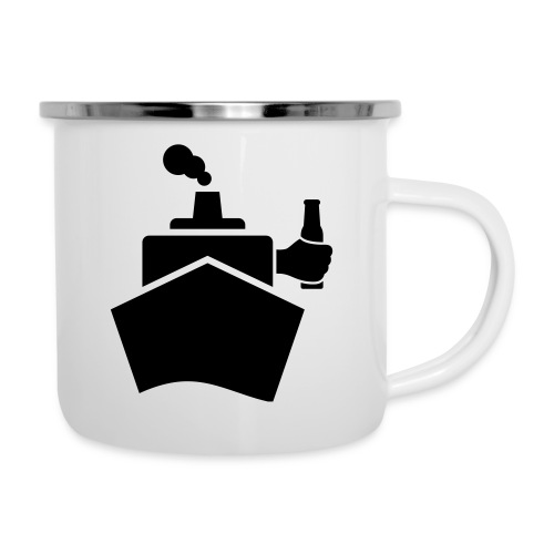 King of the boat - Emaille-Tasse