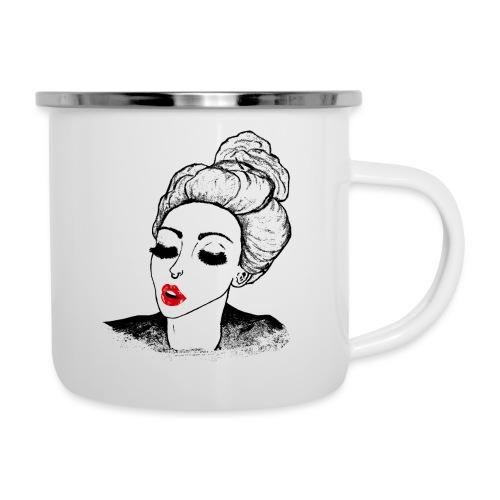 Vintage Retro Girl Kiss message - Camper Mug
