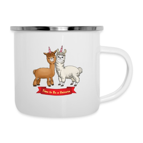 Time to Be a Unicorn 12x14 CMYK - Emaille-Tasse