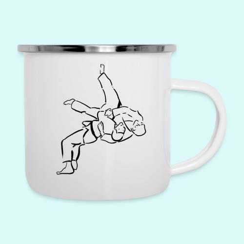 judo - Tasse émaillée