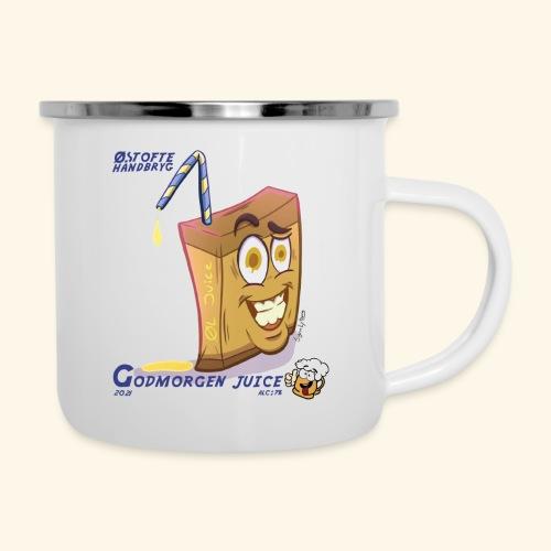 godmorgen juice - Emaljekrus