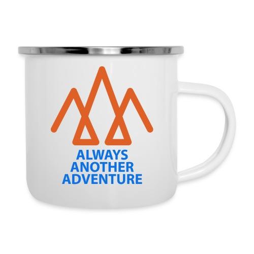 Orange logo, blue text - Camper Mug