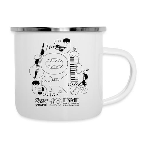 ESME Anniversary Design Schwartz - Emaille-Tasse