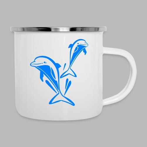 delfinpower - Emaille-Tasse