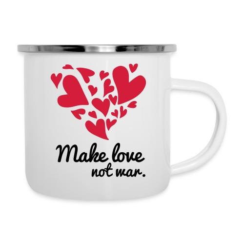 Make Love Not War T-Shirt - Camper Mug
