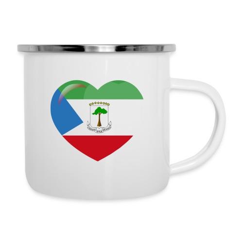 Mi corazón es de Guinea Ecuatorial - Taza esmaltada