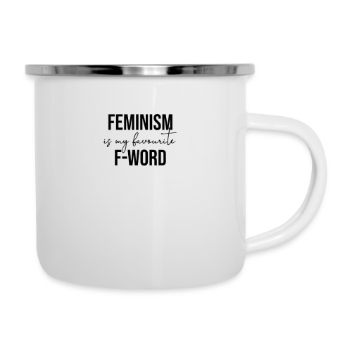 FEMINISM IS MY FAVOURITE F-WORD - Feminismus cool - Emaille-Tasse