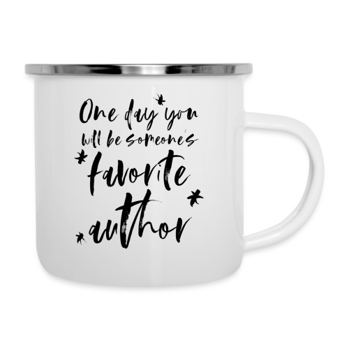 Autorenmotivation - Emaille-Tasse