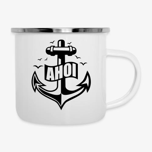 104 Ahoi Anker Möwen maritim - Emaille-Tasse