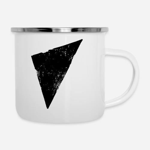 Dreieck | Polygon | Triangle - Emaille-Tasse