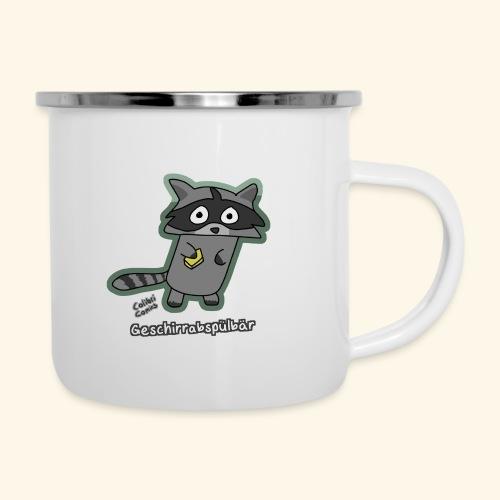 Geschirrabspülbär - Emaille-Tasse