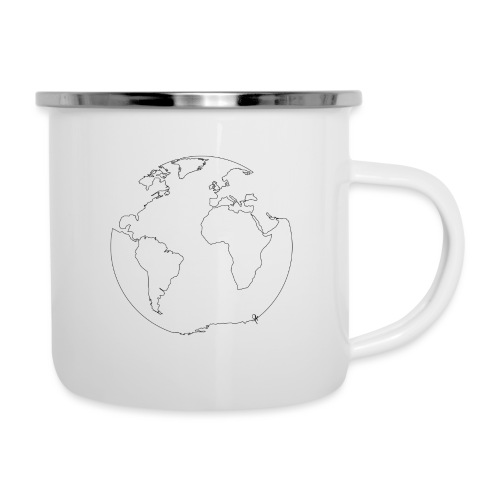 Earth - Emaille-Tasse