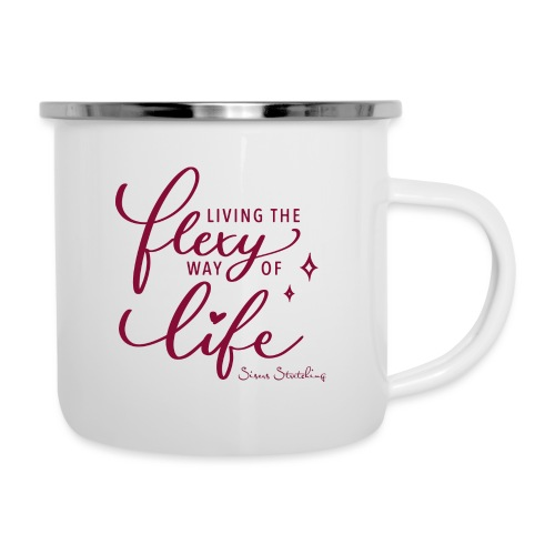Living the flexy way of life - Emaille-Tasse