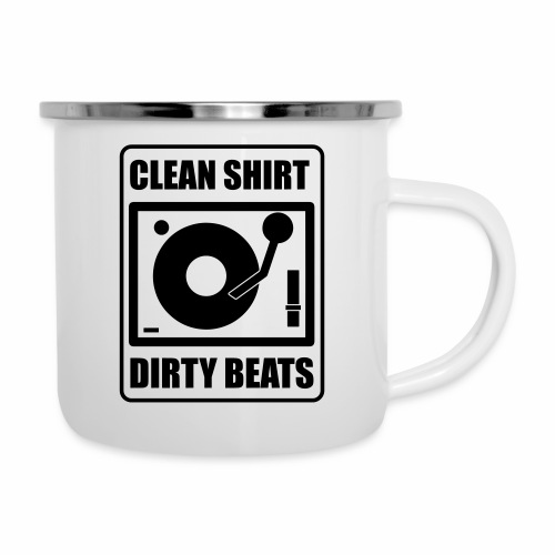 Clean Shirt Dirty Beats - Emaille mok