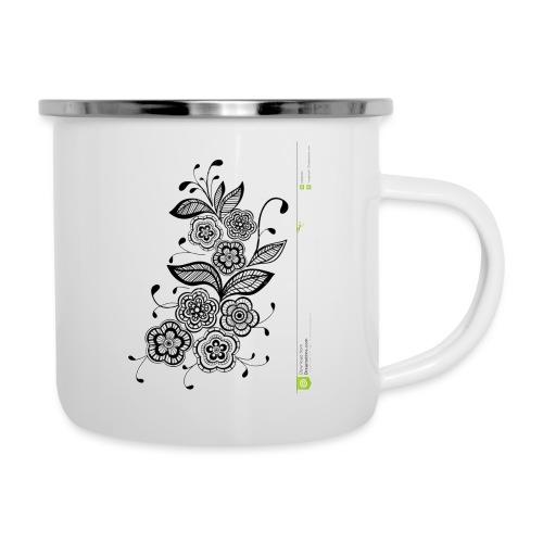 diseño de flores - Taza esmaltada