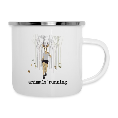 Antilope running - Tasse émaillée