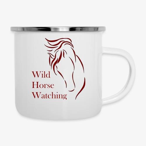 Logo Aveto Wild Horses - Tazza smaltata
