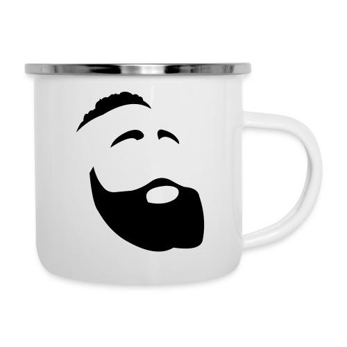 Il Barba, the Beard black - Tazza smaltata