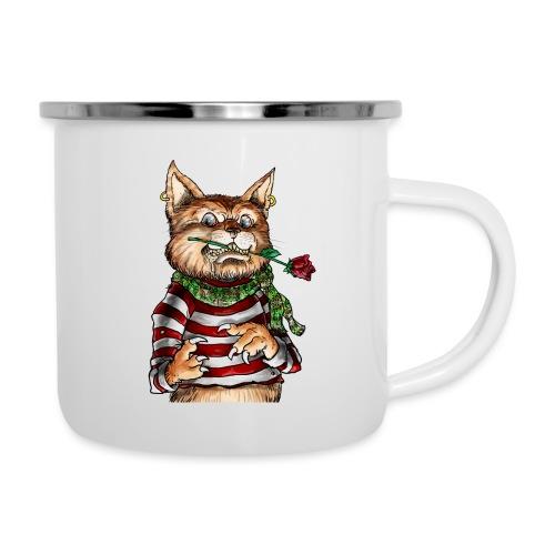 T-shirt - Crazy Cat - Tasse émaillée