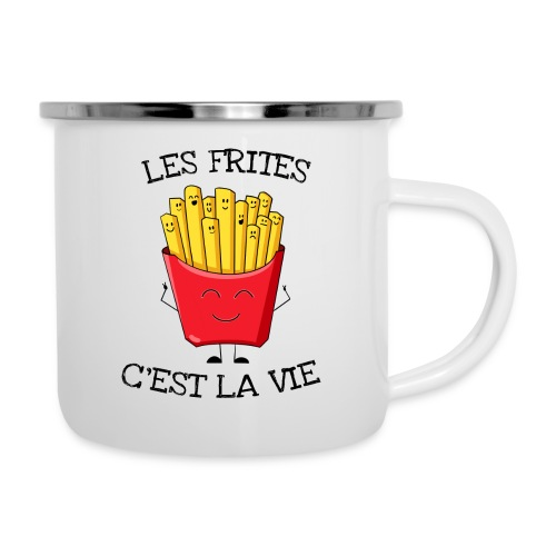 Les frites c'est la vie - Tasse émaillée