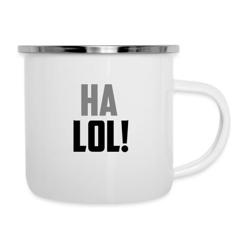The CrimsonAura 'Ha LOL!' Stream Quote. - Camper Mug