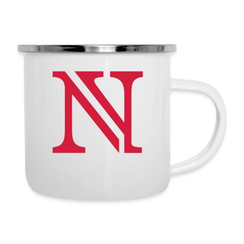 N allein - Emaille-Tasse