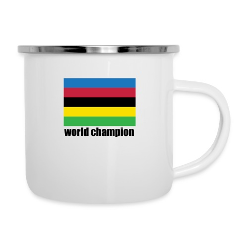 world champion cycling stripes - Emaille mok