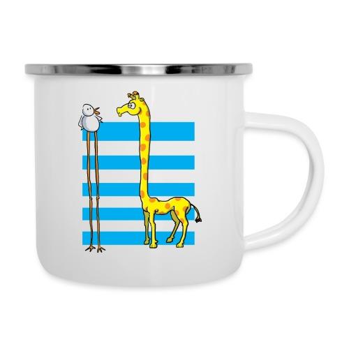 La girafe et l'échassier - Tasse émaillée