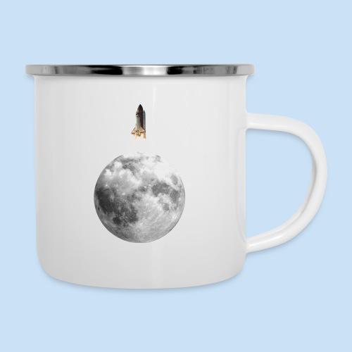 Mondrakete - Emaille-Tasse