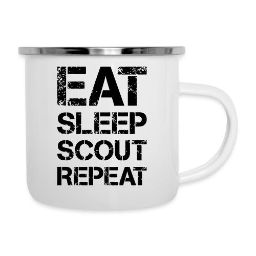 EAT SLEEP SCOUT REPEAT Kreide - Farbe frei wählbar - Emaille-Tasse