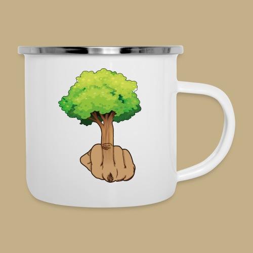 Mittelfingerbaum - Emaille-Tasse