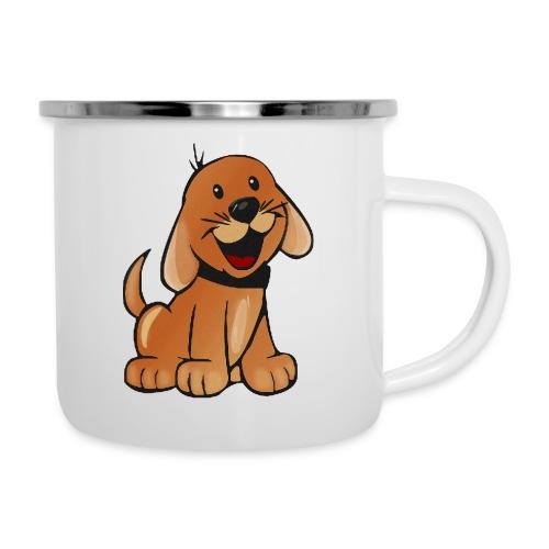 cartoon dog - Tazza smaltata