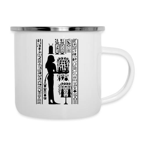 Ägyptische Hierogylphen - Emaille-Tasse