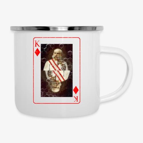 Kaiser Franz von Österreich spielkarte - Emaille-Tasse