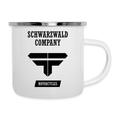 S.C. Motorcycles Schwarzwald Company - Emaille-Tasse