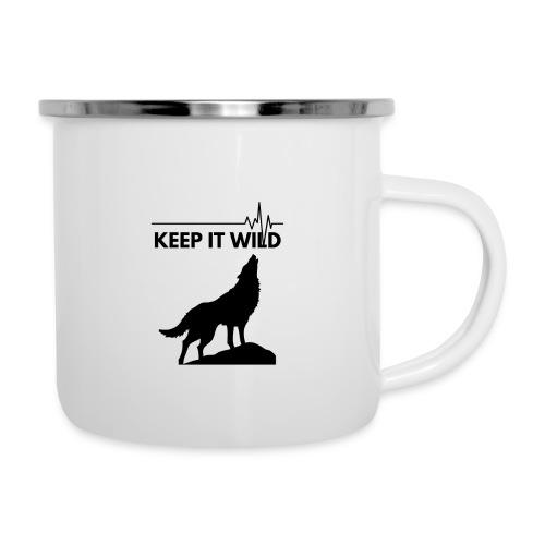 Keep it wild - Emaille-Tasse