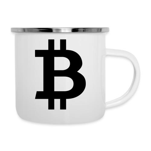 Bitcoin black - Emaljmugg
