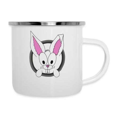 Das freundliche Kannchen nebenan white rabbit - Emaille-Tasse