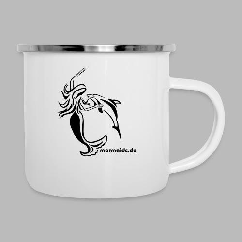 Mermaids Seejungfrau und Delphin - Emaille-Tasse