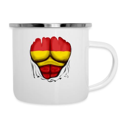 España Flag Ripped Muscles six pack chest t-shirt - Camper Mug