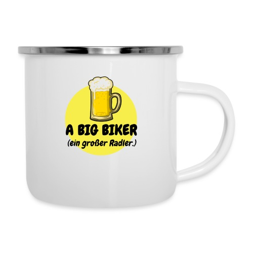 A big biker - Emaille-Tasse