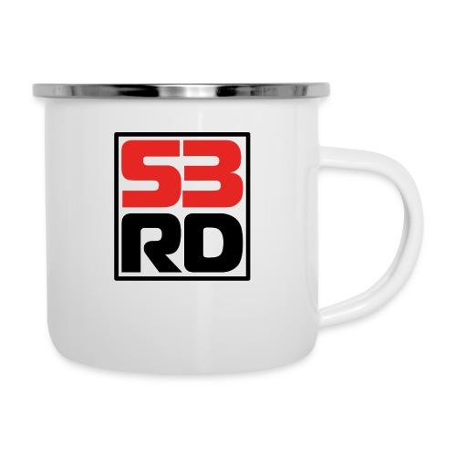 53RD Logo kompakt umrandet (schwarz-rot) - Emaille-Tasse