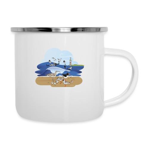 See... birds on the shore - Camper Mug