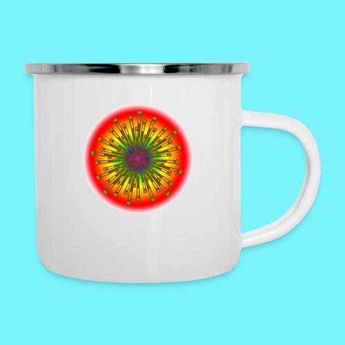Rainbow explosion behind Fibonacci - Camper Mug