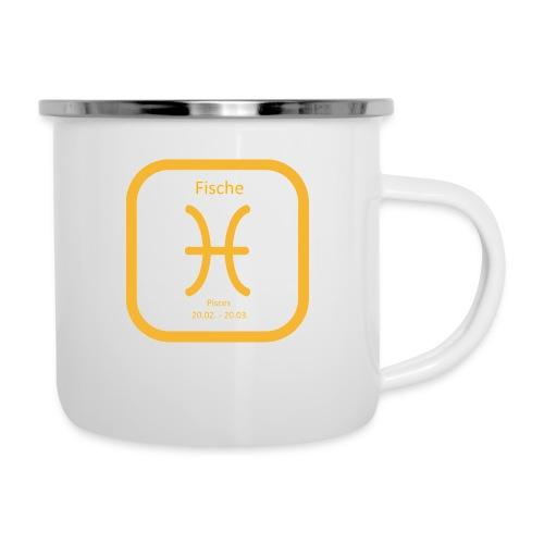Horoskop Fische12 - Emaille-Tasse