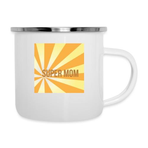 supermom maske2 - Emaille-Tasse