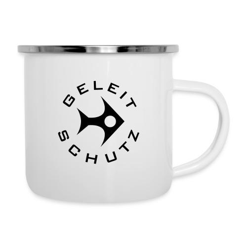 Geleitschutz Fischdesign - Emaille-Tasse